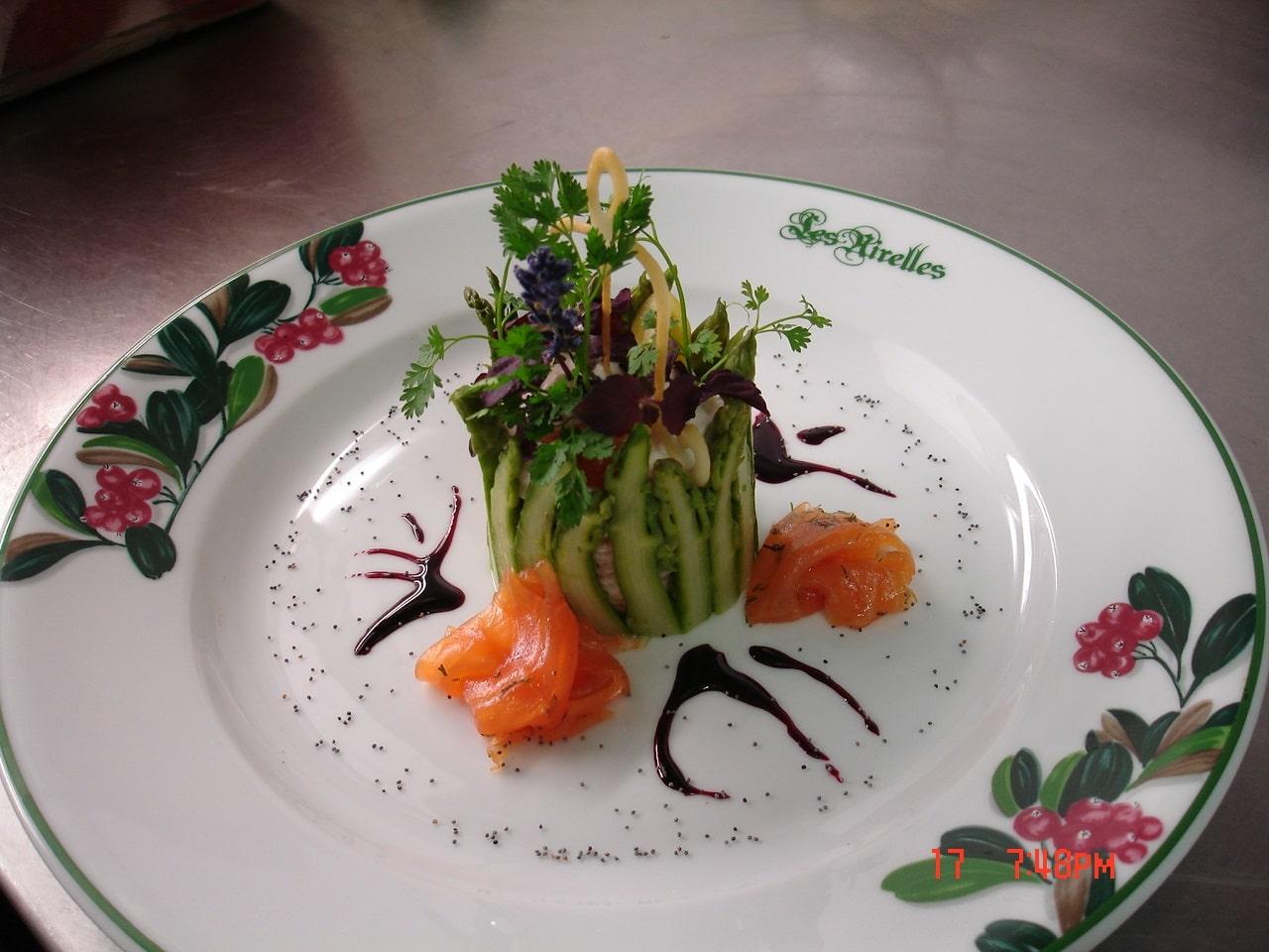 Chartreuse d'asperge verte et homard Bleu