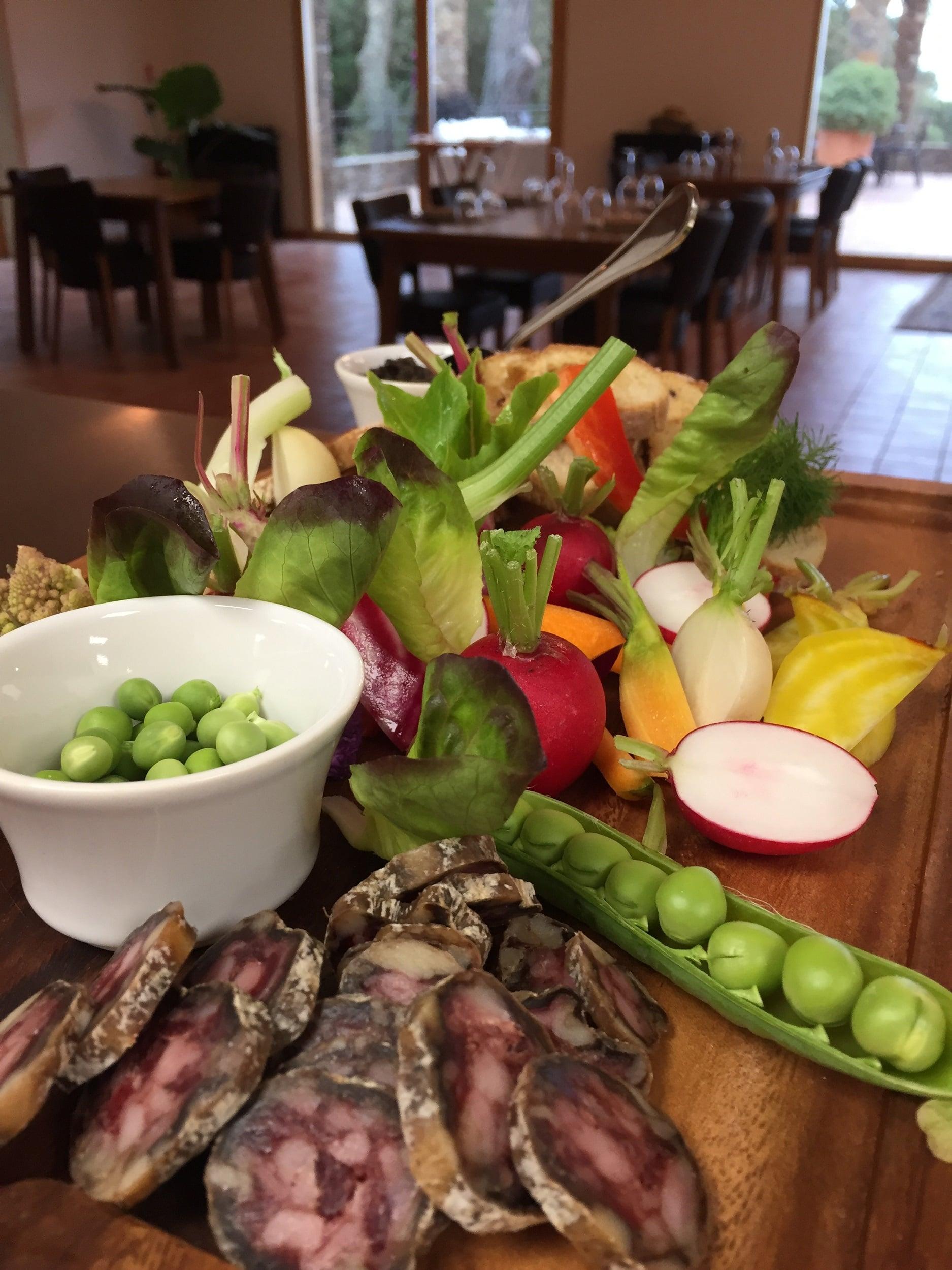 Saucisson Corse et légumes du jardin
